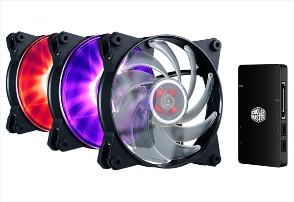 Cooler Master  MasterFan Pro 120 RGB コントローラパック (MFY-B2DC-133PC-R1)