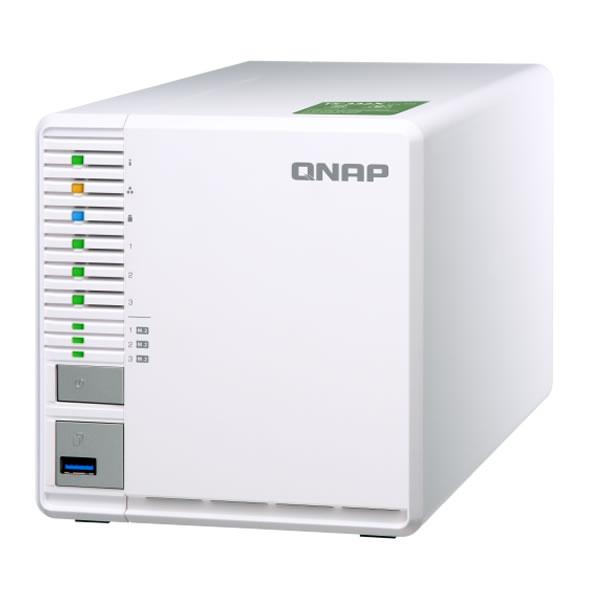 QNAP TS-332X-2G 2.5/3.5インチHDD、M.2 SSD 3台搭載可能
