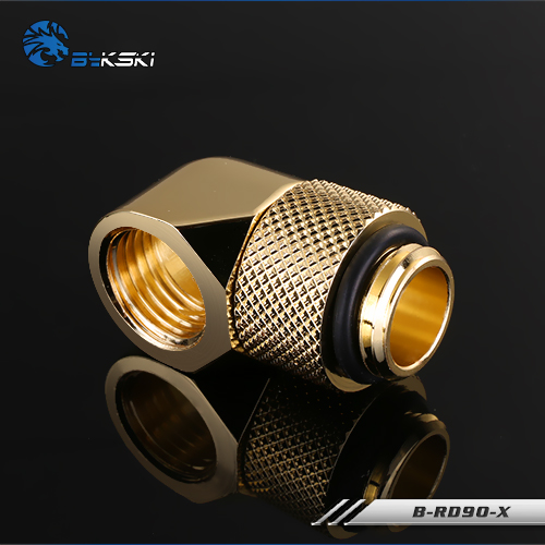 Bykski B-RD90-X Fine 90 degree rotating elbow Water cooling and cooling Rotary joint gold