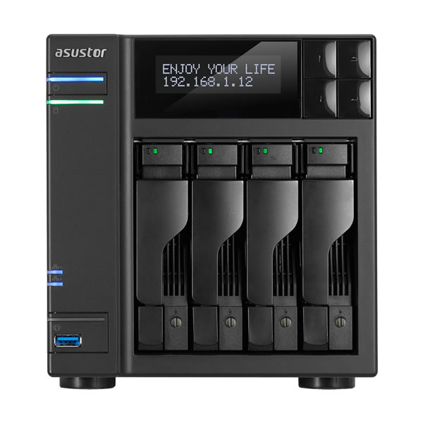 ASUSTOR AS6404T 2.5/3.5インチ HDD 4台搭載可能