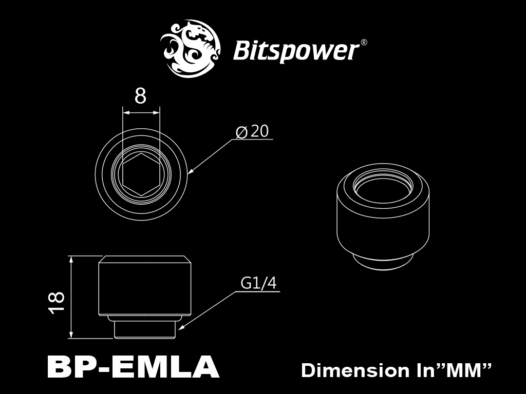 "Bitspower G1/4"" Silver Shining Advanced Multi-Link For OD 12MM"