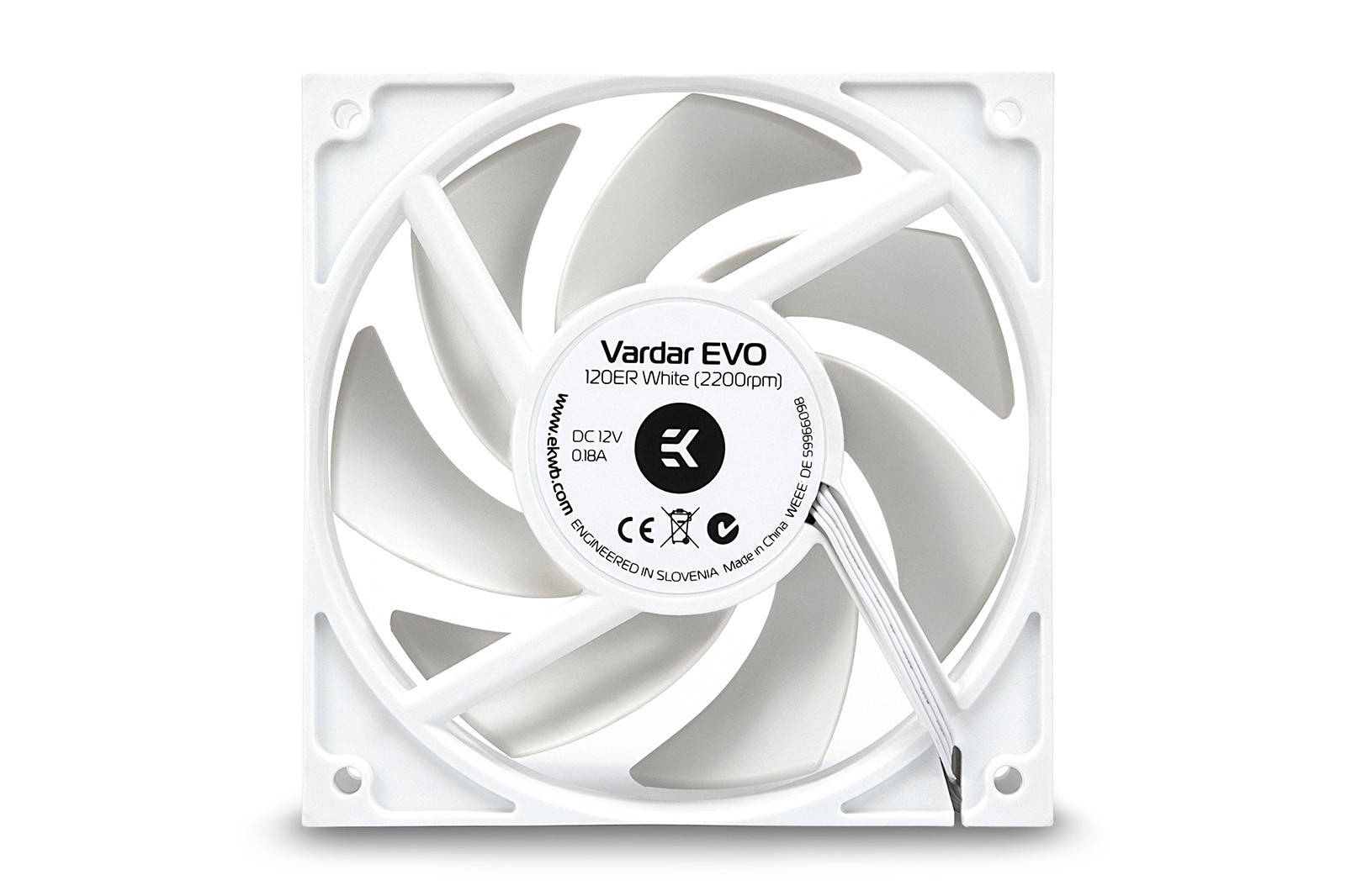 EK WaterBlocks EK-Vardar EVO 120ER White BB (500-2200rpm)