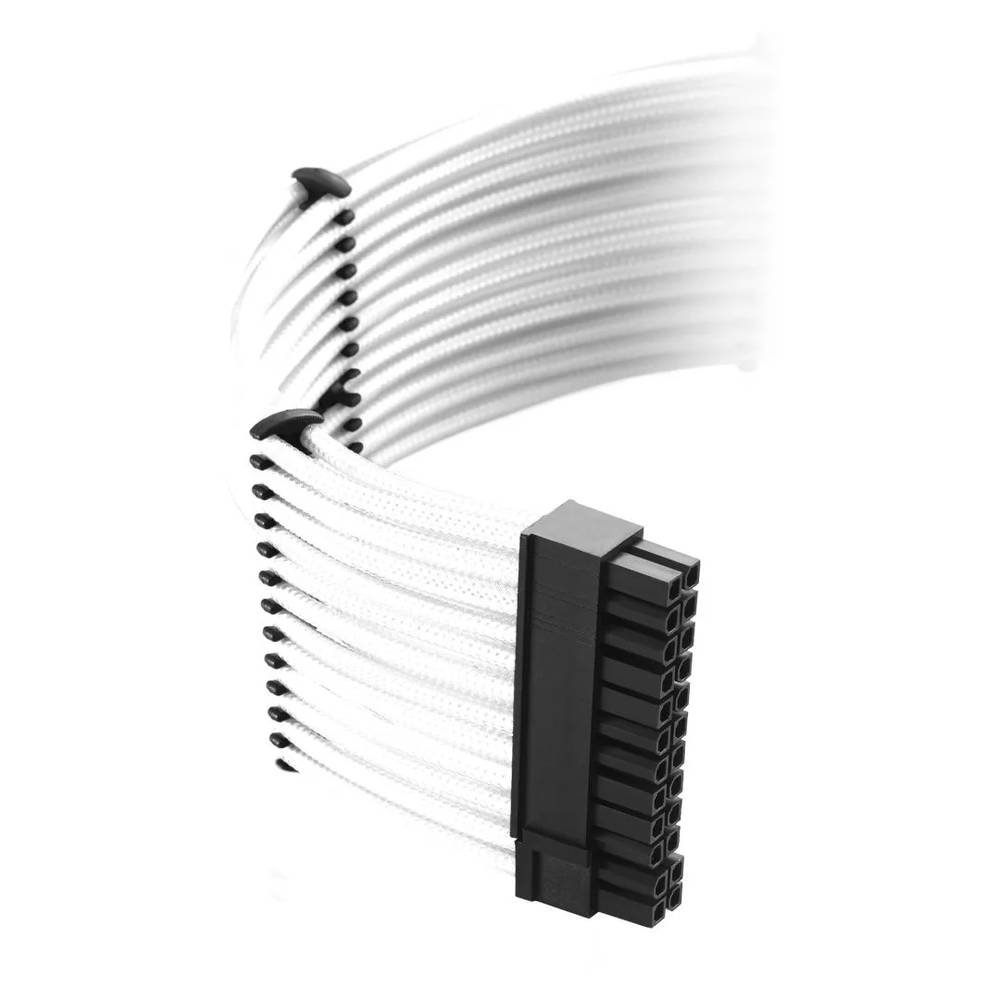 CableMod Classic ModMesh E-Series Cable Kit for EVGA G5 / G3 / G2 / P2 / T2 - WHITE (CM-EV2-CKIT-NKW-R)