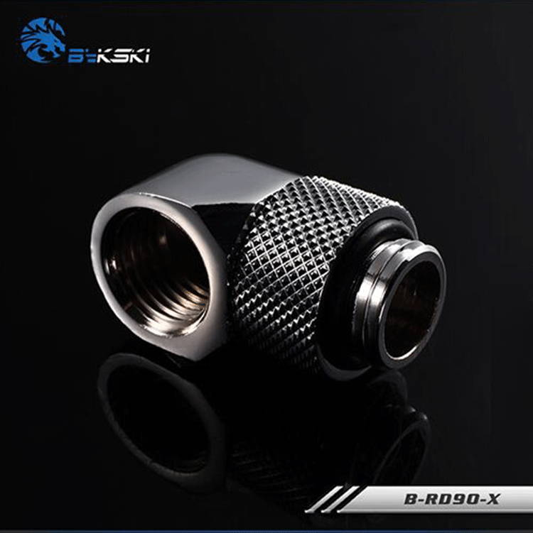 Bykski B-RD90-X Fine 90 degree rotating elbow Water cooling and cooling Rotary joint silver