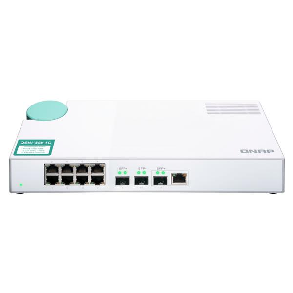 QNAP QSW-308-1C 10GbE 3ポート RJ45 ギガビット 8ポート アンマネージドスイッチ