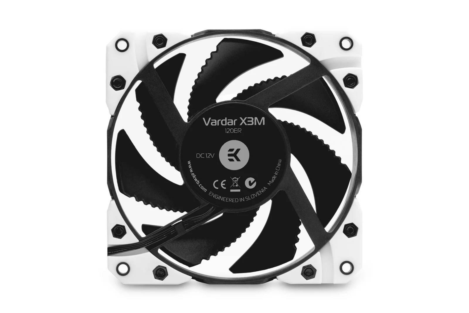 EK WaterBlocks EK-Vardar X3M 120ER (500-2200 rpm) - White