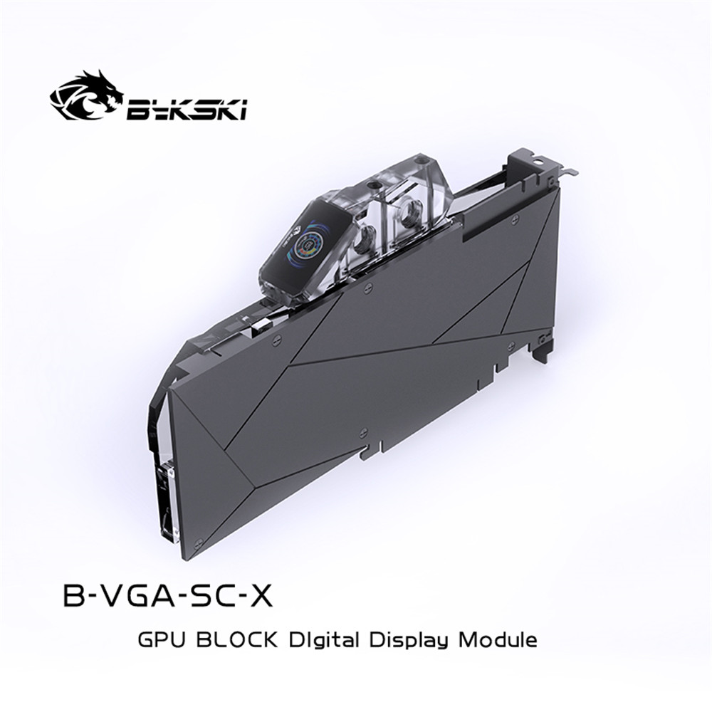 Bykski B-VGA-SC-X GPU BLOCK Digital thermometer LCD color screen