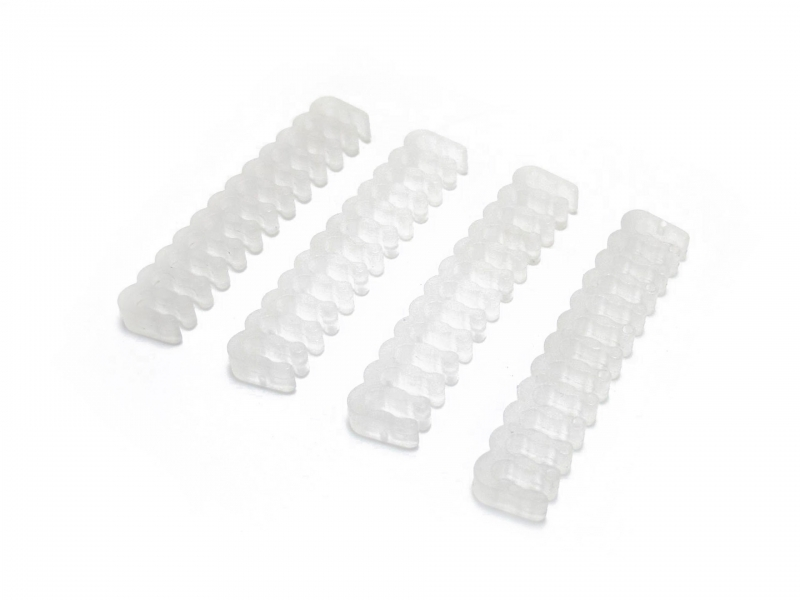 XSPC Sleeved Cable Comb, 24 Pin ATX (Frosted) 4 Pack