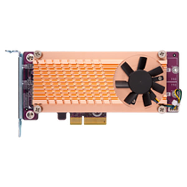 QNAP QM2-2P-384 デュアル M.2 22110/2280 PCIe NVMe SSD拡張カード