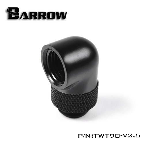 BARROW 90°Rotary Adapter (Male to Female) Black