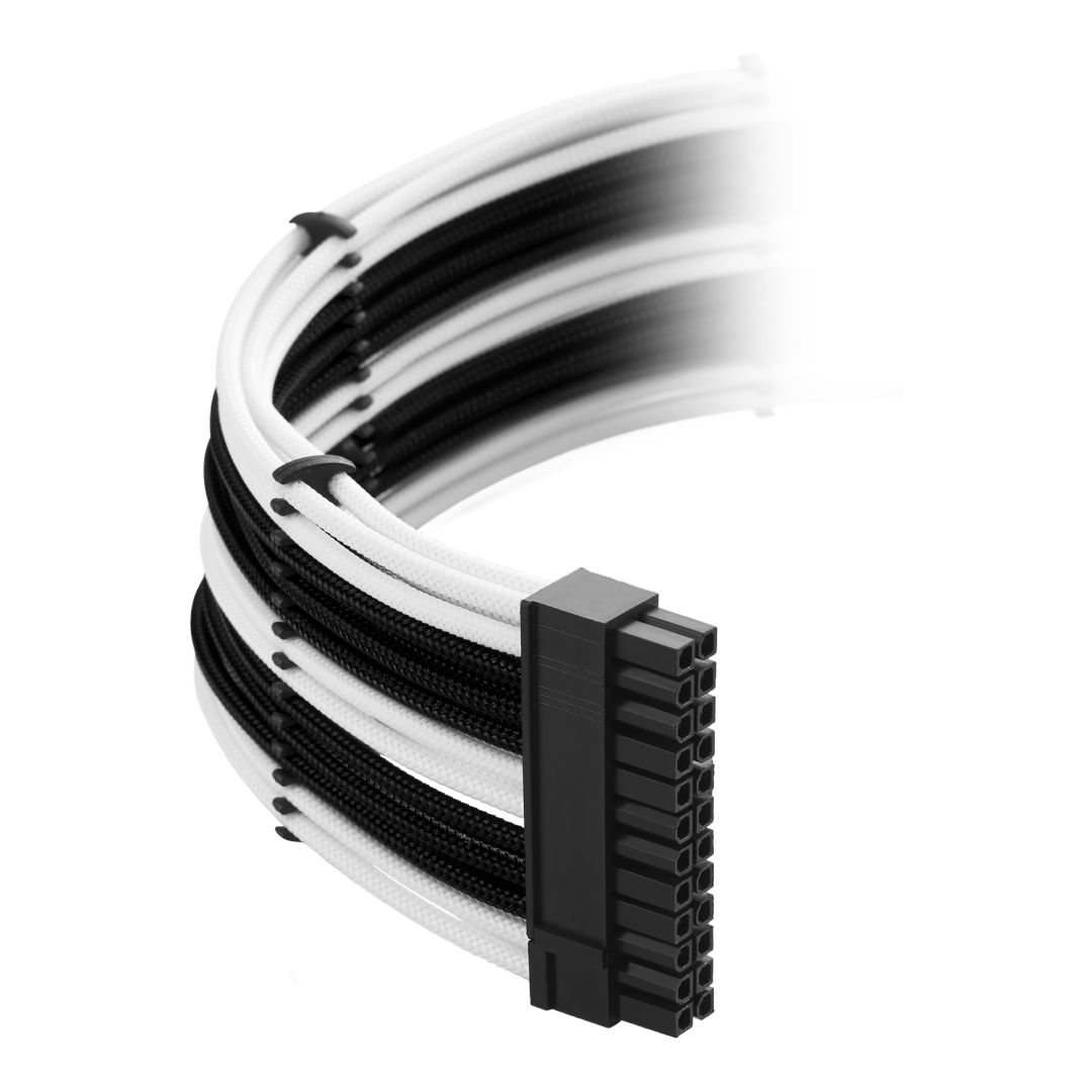 CableMod Classic ModMesh C-Series Cable Kit for Corsair AXi, HXi & RM - BLACK / WHITE (CM-CSI-CKIT-NKKW-R)