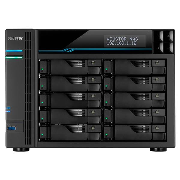 ASUSTOR AS6510T 2.5/3.5インチ HDD 10台搭載可能 LOCKERSTOR 10