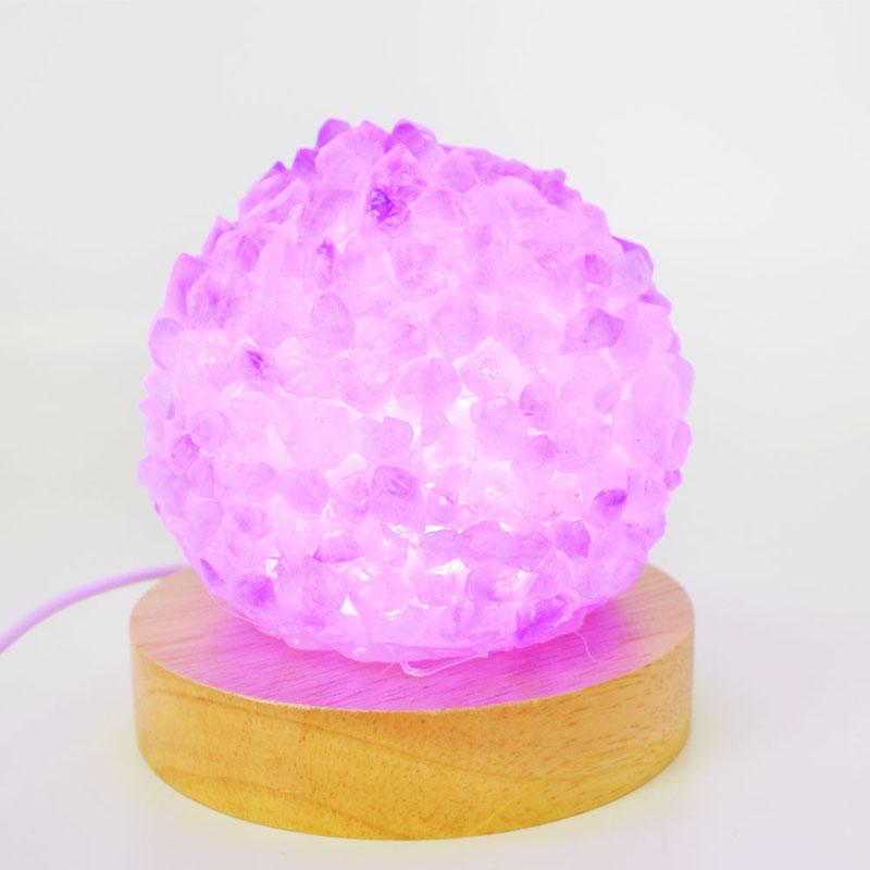 アメジスト<br>ランプ/LEDライト<br>浄化/ストレス軽減/調和<br>石ランク/★★★★☆