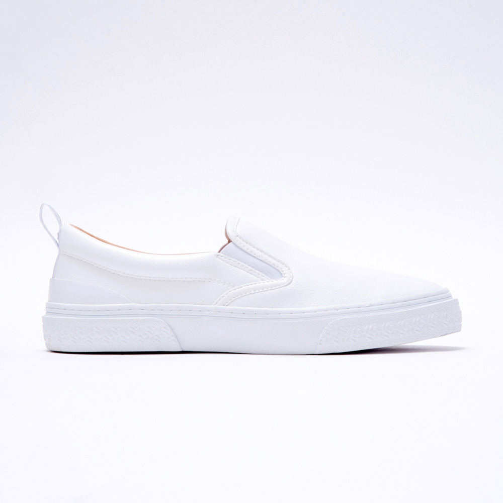 CALMER LX (SLIP-ON)(WHITE/WHITE)