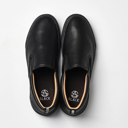 CALMER LX (SLIP-ON)(BLACK/BLACK/BROWN)
