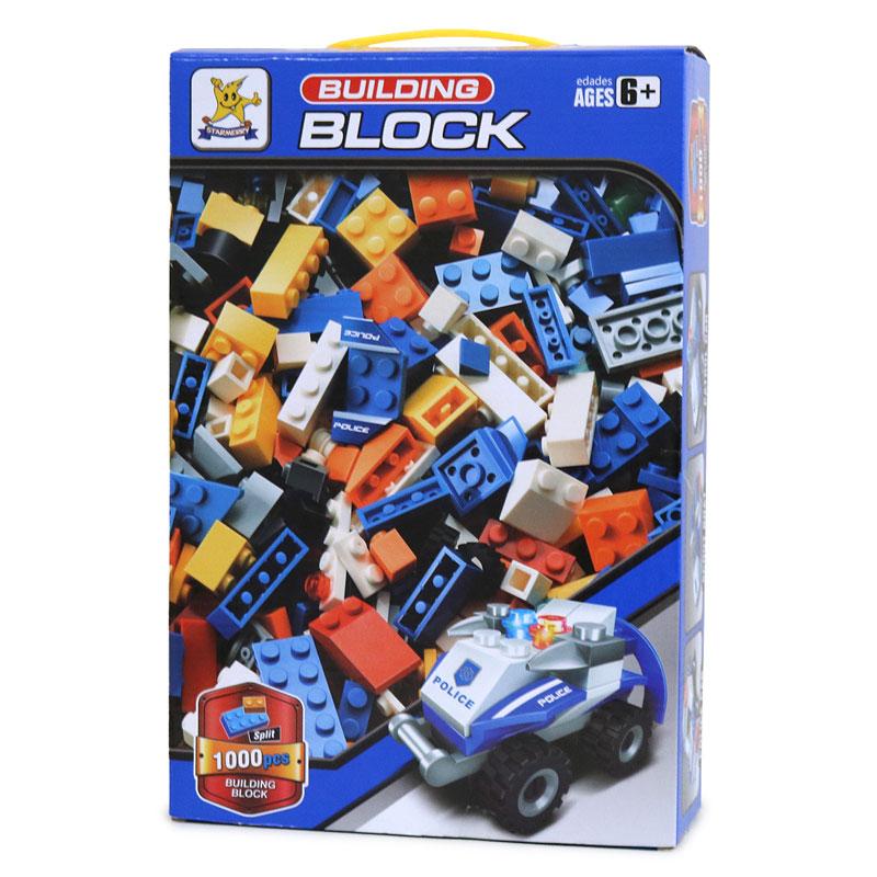 【当店オリジナル商品】1000ピース ブロック BUILDING BLOCK 青色