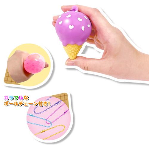 ファンシースクイーズ(TPR素材) アイスクリーム 12個セット