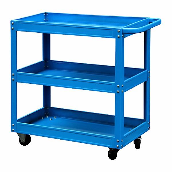 3段ツールカート ブルー