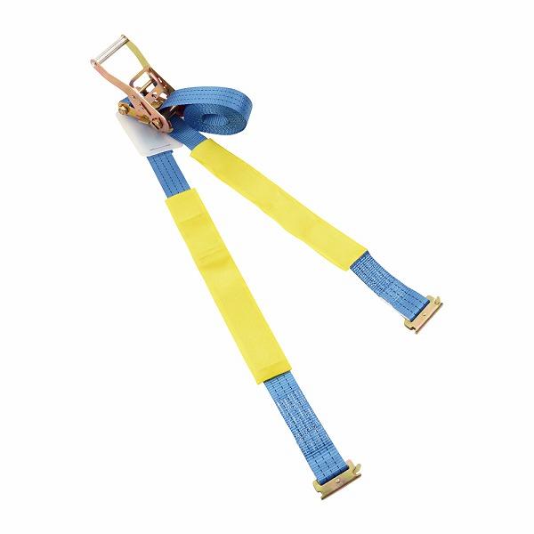 ラッシングベルト レール (Rフック) 5m 荷締め機 ガッチャ ラチェット式荷締めベルト トラック用荷締めベルト