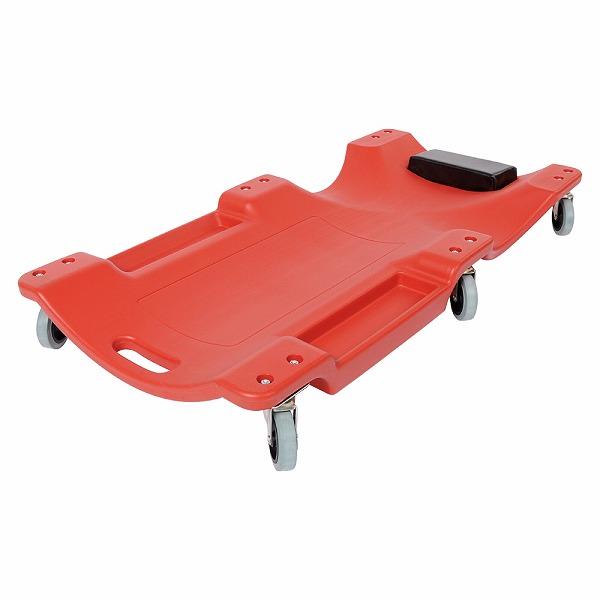 6輪ワイドプラスチッククリーパー レッド (寝板)