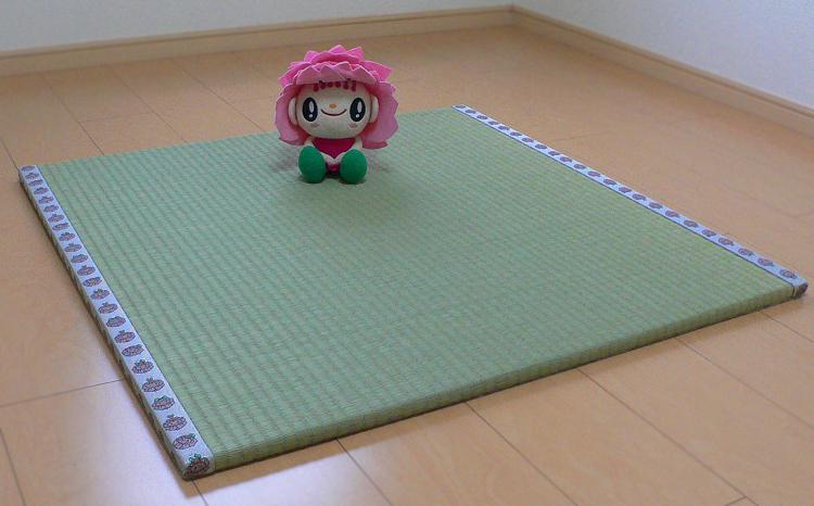 畳屋さんが作った!「わんぱく畳」天然い草半畳タイプ(おむらんちゃん縁)