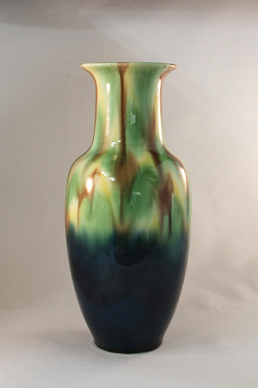 長崎三彩 サギ型花瓶