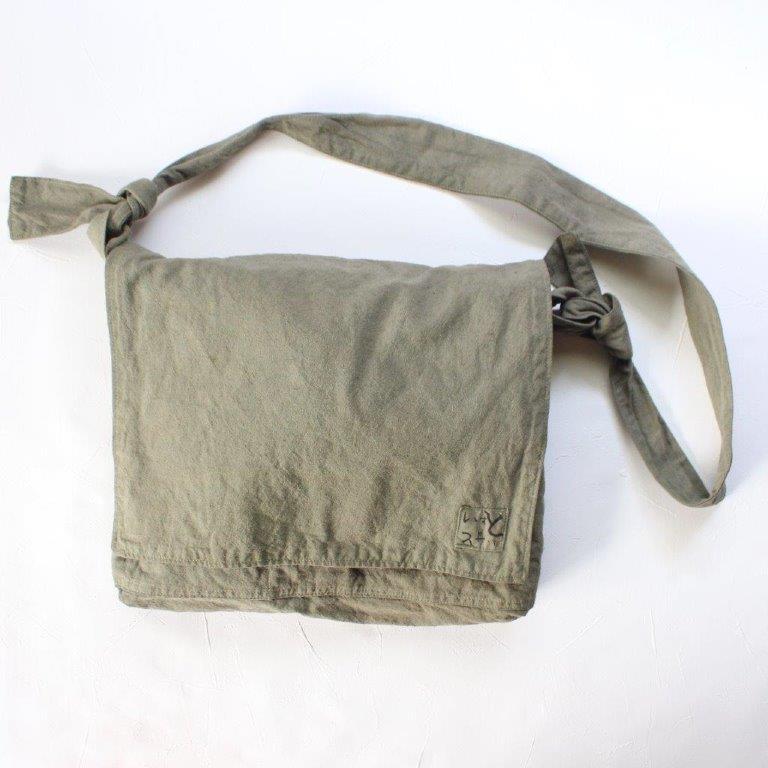 草木染 頭陀袋