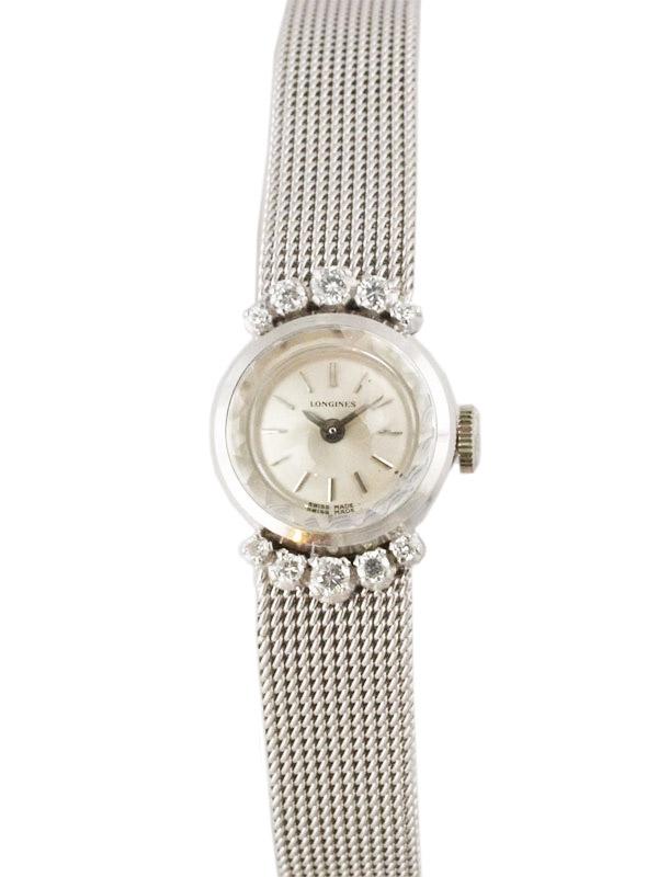 LONGINES 18K.W.G./ダイヤモンドブレスレットモデル婦人用手巻き