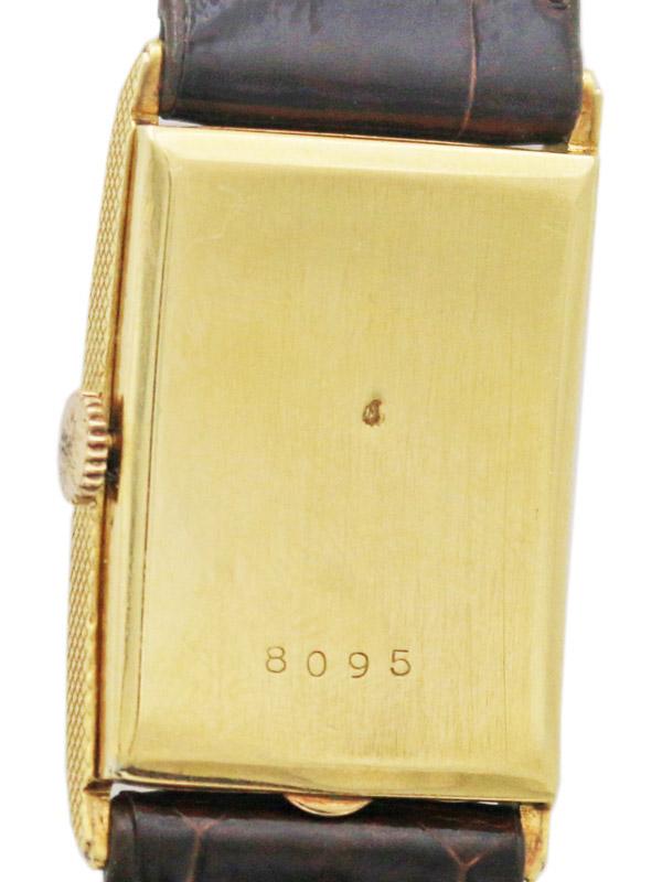 VAN CLEEF & ARPELS 18K.レクタングラーケース 紳士用手巻き