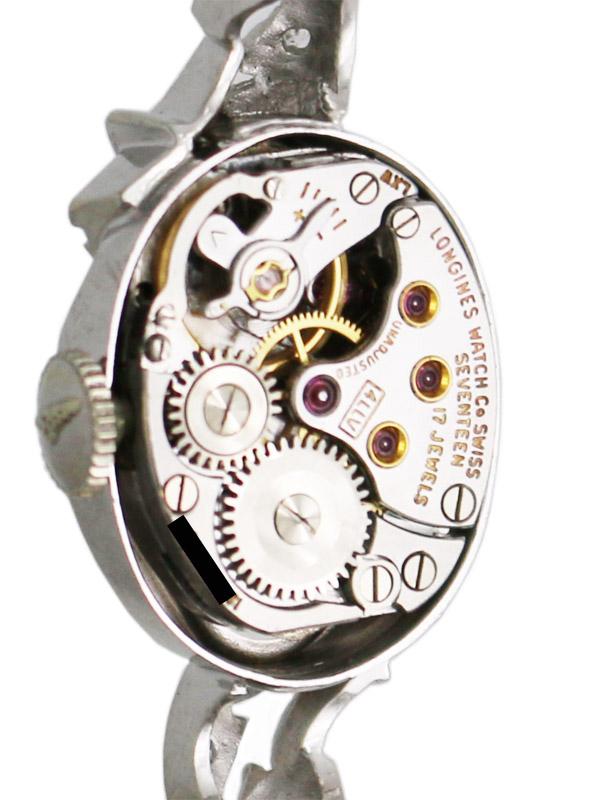 LONGINES 14K.W.G./ダイヤモント装飾゛ケース 14K.W.G./ダイヤモンドブレスレット婦人用手巻き