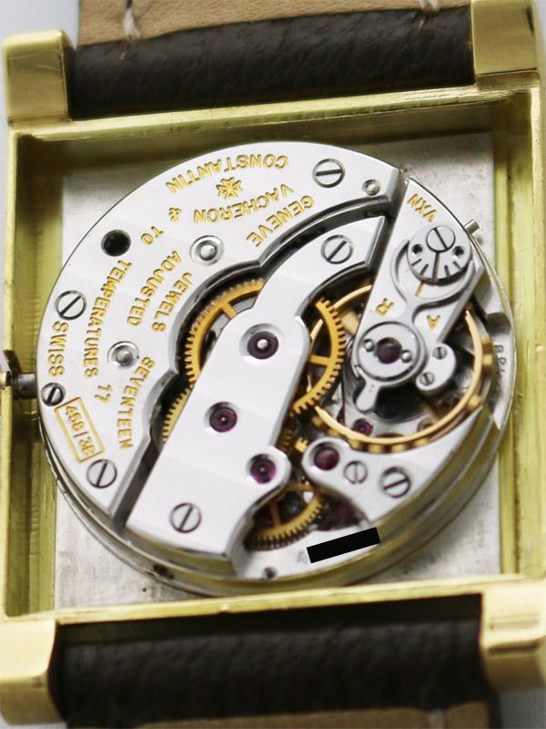 VACHERON & CONSTANTIN 18K.レクタングラーケース紳士用手巻き BOX,アーカイブ付き