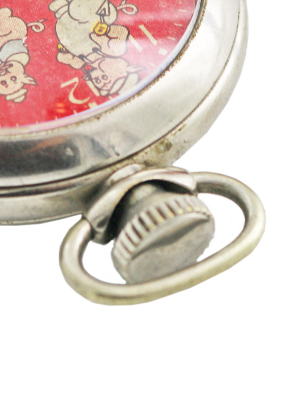 Three Little Pigs & Big Bad Wolf by  Ingersoll  1934's Disney Character Pocket Watch