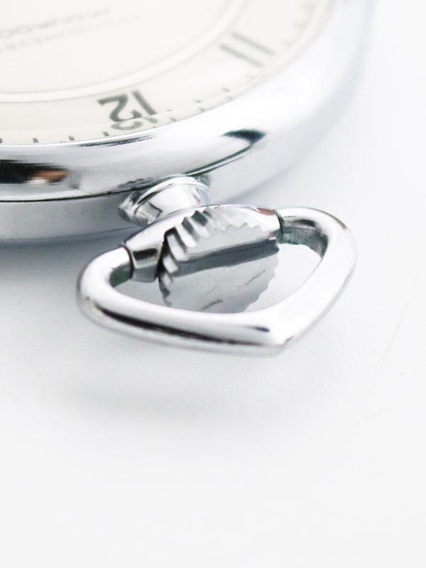 MOVADO SSラウンドケース 懐中時計 「CHRONOMETRE」BOX付き