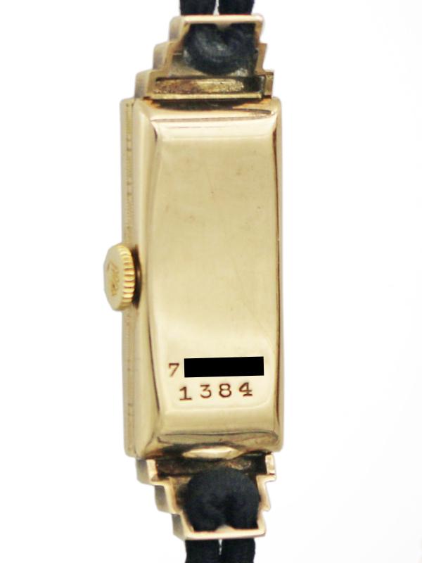 ROLEX 9K.レクタングラーステップダウンケース「PRINCESS」Egyptianne 婦人用手巻き