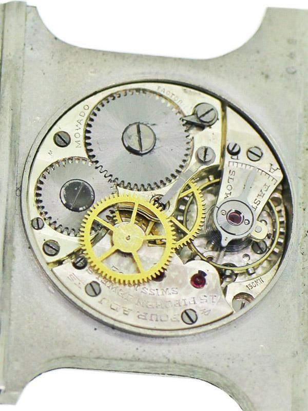 MOVADO SS/ブラックエナメルケース「ERMETO」クロノメーターW/BOX