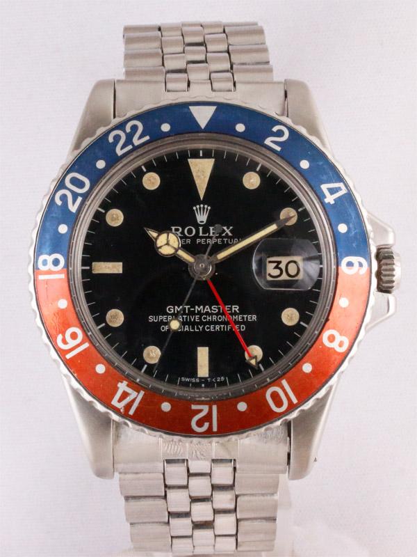 ROLEX SS オイスターパーペチュアル「GMT−MASTER」スモールGMT針付き
