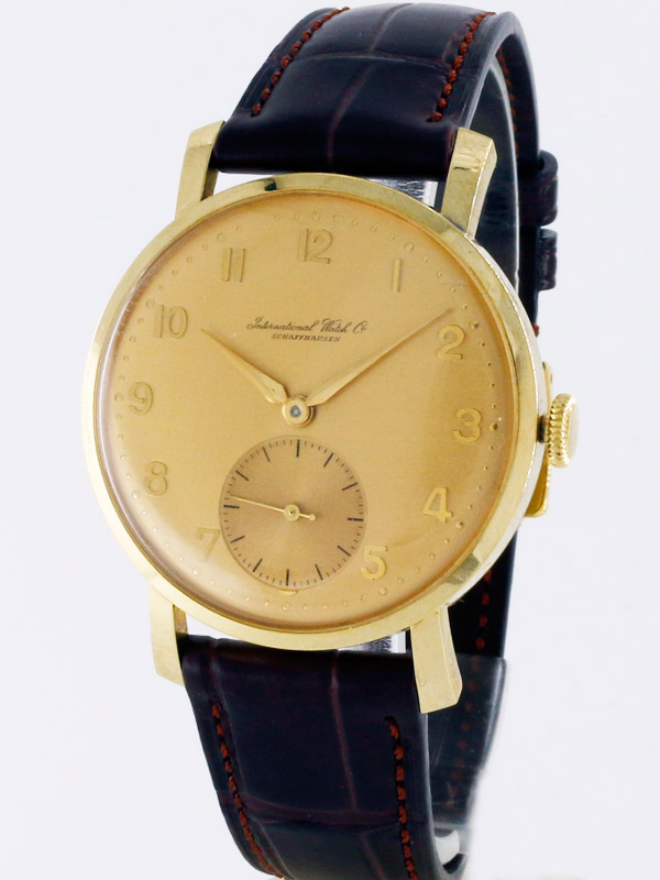 International Watch Co.14K.ゴールドフィルドラウンドケース紳士用手巻き