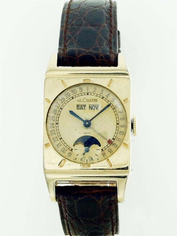LeCoultre 10K.G.F.レクタングラーケース「トリプルムーンカレンダー」