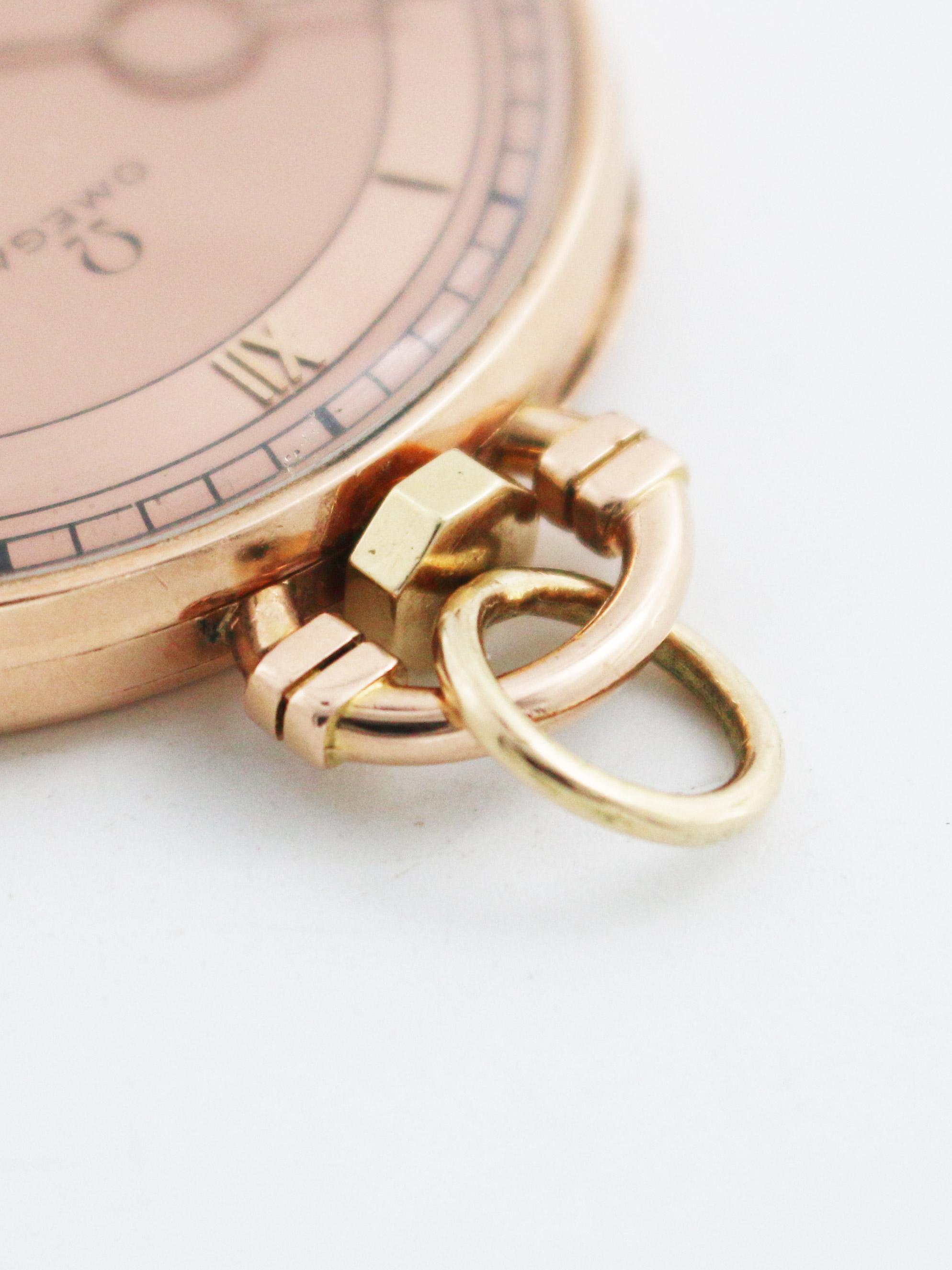 OMEGA 14K.ピンクゴールドケース懐中時計
