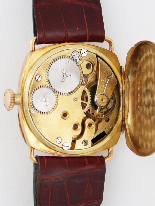International Watch Co. 18K.クッション型ヒンジケース 紳士用手巻き