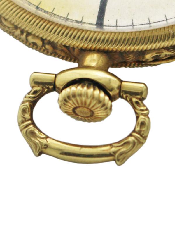 LONGINES 18K.エングレーウ゛ィング装飾ケース 懐中時計