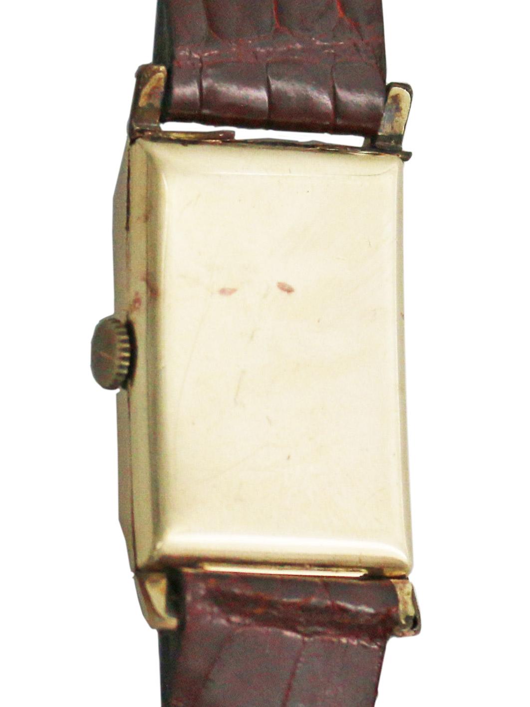 OMEGA 40M.G.F.レクタングラーケース 紳士用手巻き