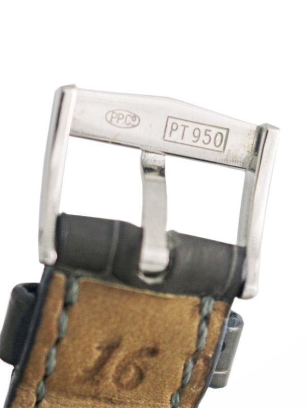 PATEK PHILIPPE Pt950 2ピースラウンドケース アイボリーダイヤモンドダイヤル BOX付き