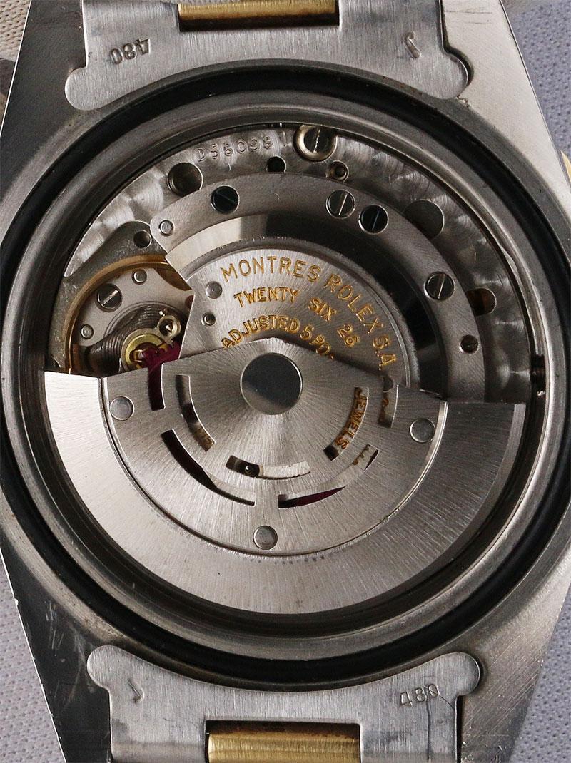 ROLEX SS/14K.オイスターパーペチュアル「GMT−MASTER」ブラックミラー カメレオンアイダイヤル