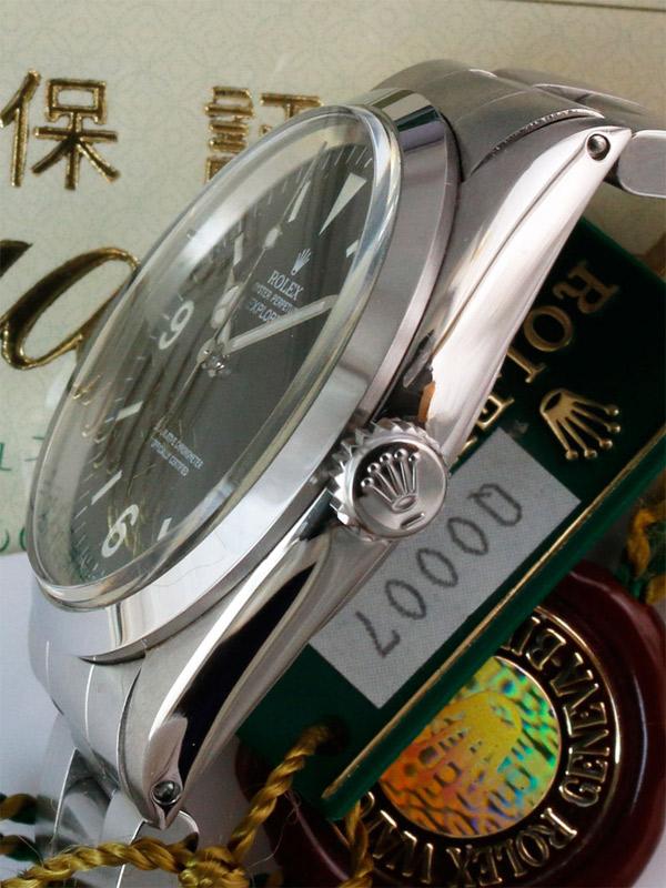 ROLEX SS オイスターパーペチュアル「EXPLORER1」R品番 日本ロレックス正規品  オリジナルBOX、保証書、タグ、2014年日本ロレックスサービス国際保証書付き