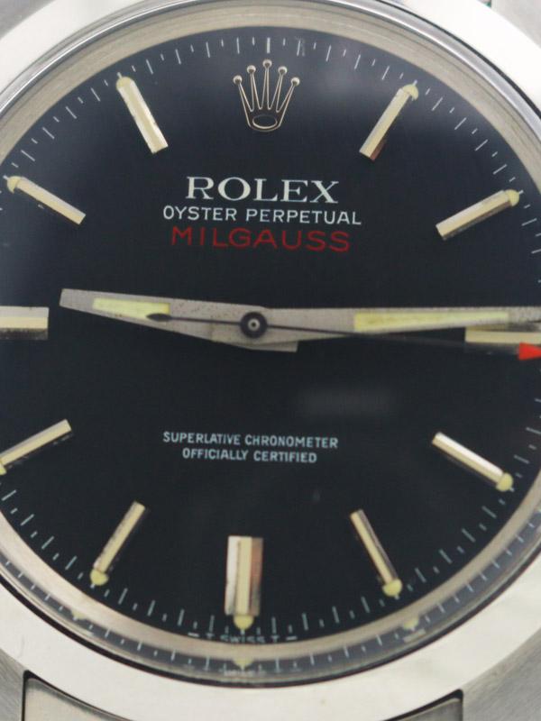 ROLEX SSオイスターパーペチュアル「MILGAUSS」ロレックス修理明細書付き