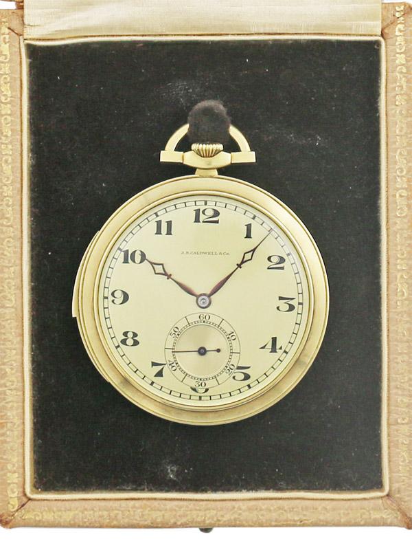 J.E.Caldwell 14K. ミニッツリピーター 懐中時計 BOX付き 1930'S