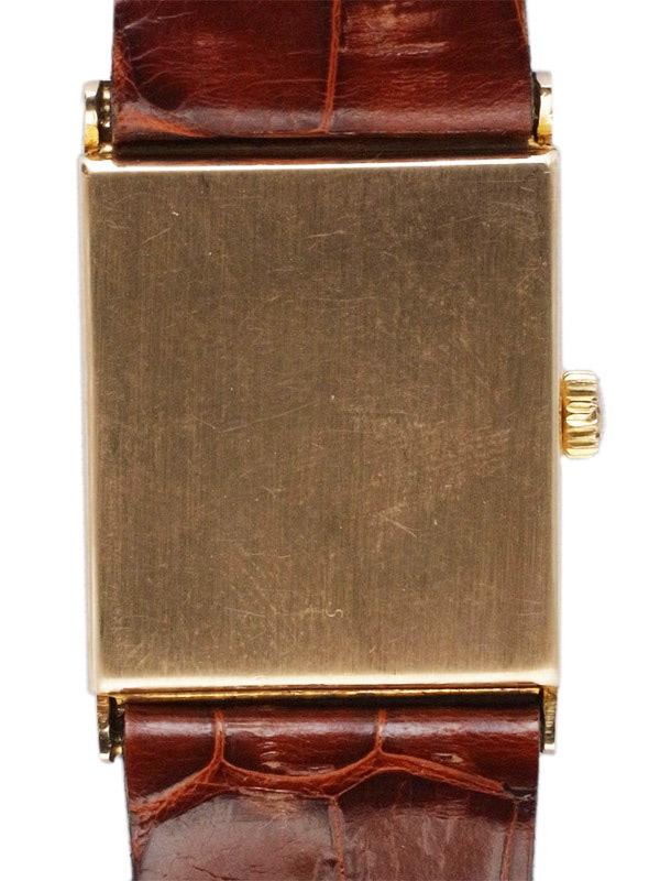 OMEGA 9K.ローズゴールドカバードレクタングラーケース 紳士用手巻き