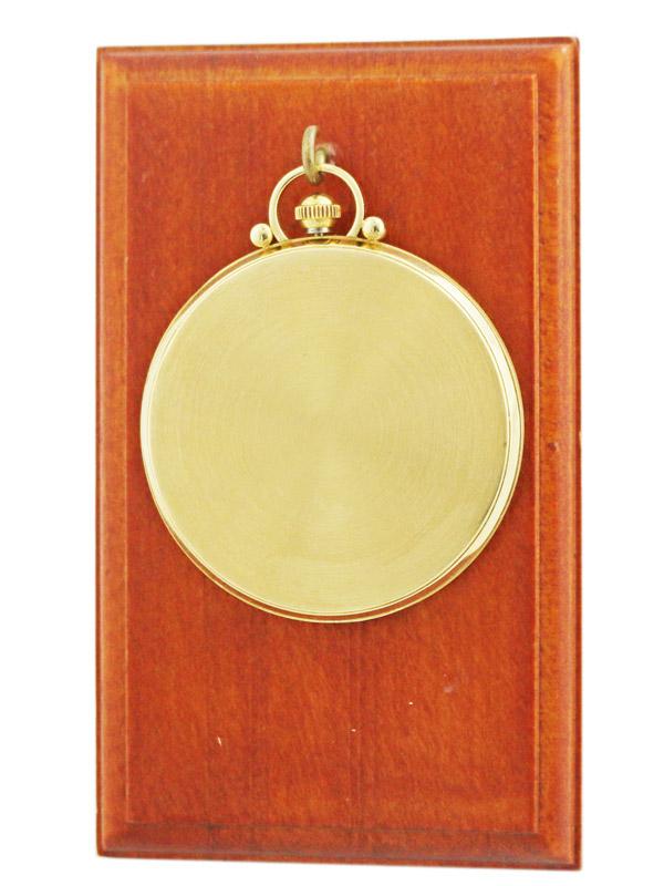 OMEGA 18K.イエローゴールド懐中時計 ブラックミラーダイヤル