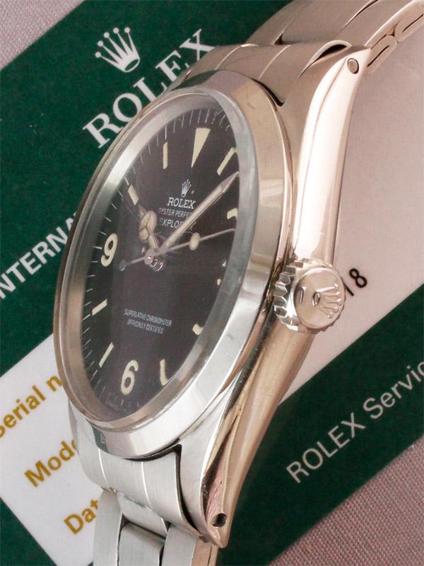 ROLEX SS オイスターパーペチュアル「EXPLORER 1」ロレックス修理明細書国際保証書付き